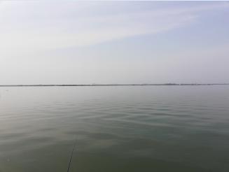 大湖在前,鱼竿在手
